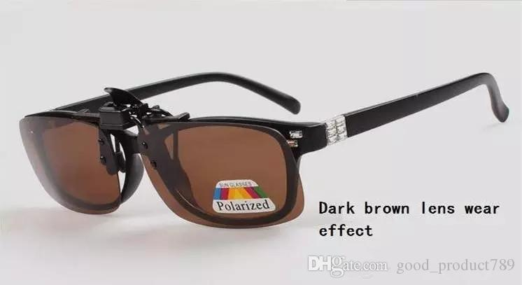 New Hot Fashion Clip-on Flip-up Lens Polarized Day Night Vision Sunglasses Driving Glasses S,M,L 1168