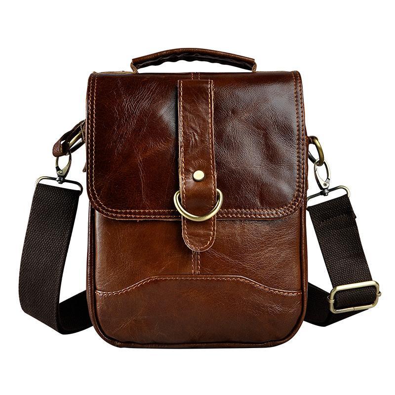 6fd49e8cb9 Quality Original Leather Male One Shoulder Messenger Bag Cowhide ...