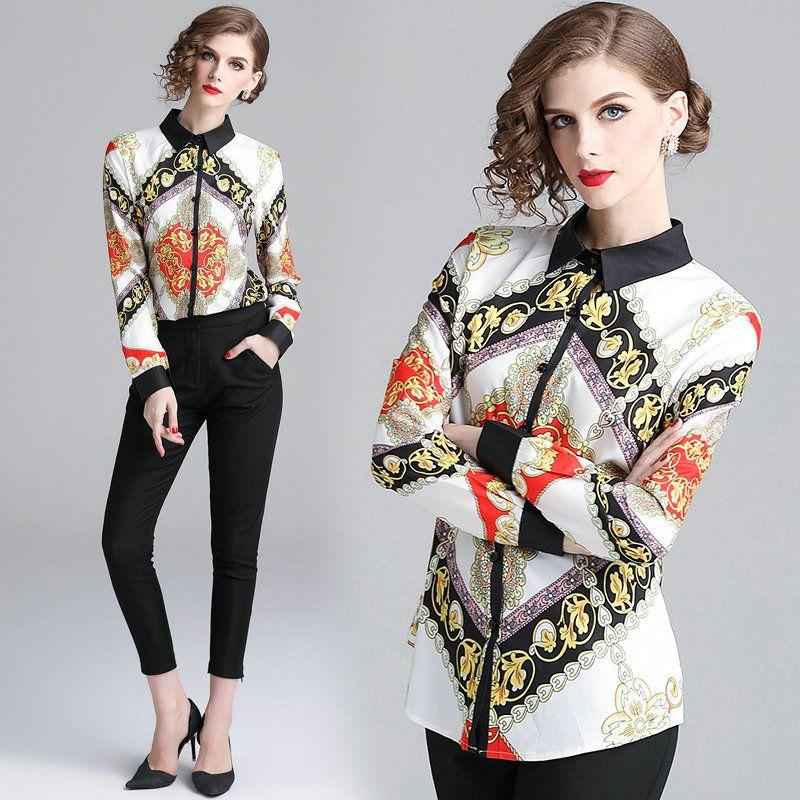 ecdbd3baa9517 Compre Nueva Llegada Para Mujer Camisa De Manga Larga Blusas Calidad  Impresa Oficina De Negocios Camisas Ladies Tops Moda Camisas Elegantes A   15.47 Del ...