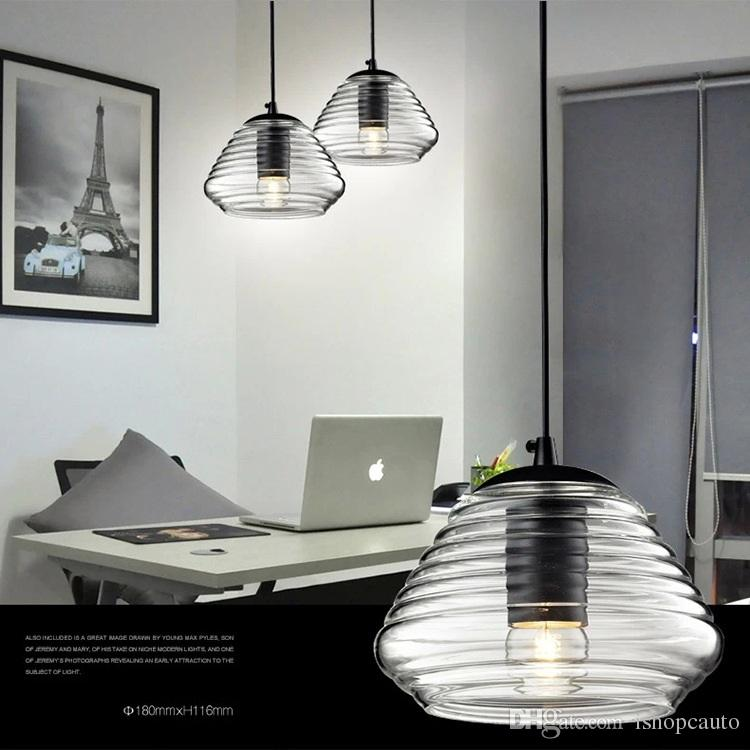 Modern minimalist glass pendant lamps creative personality UFO lights bar cafe living room dining lantern chandeliers