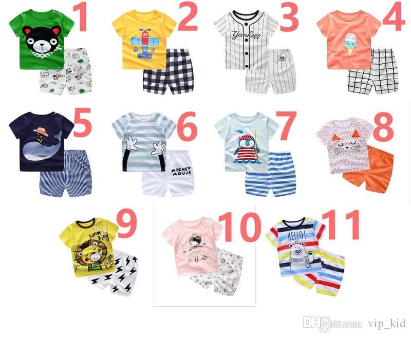 23169a4d1 Summer Sets Children S Clothing Children S Cotton Short Sleeved Suit ...