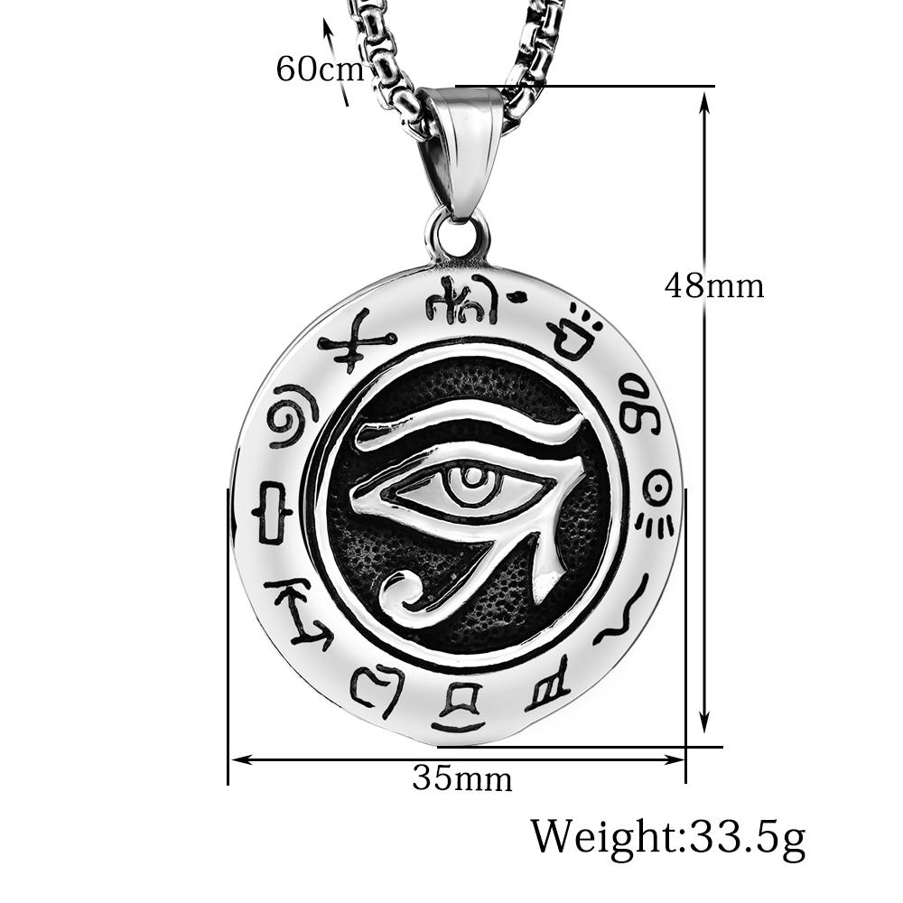 New Pendant Religious Egyptian Eye of Horus Ancient Egypt Pendant Necklace Stainless Steel Jewelry
