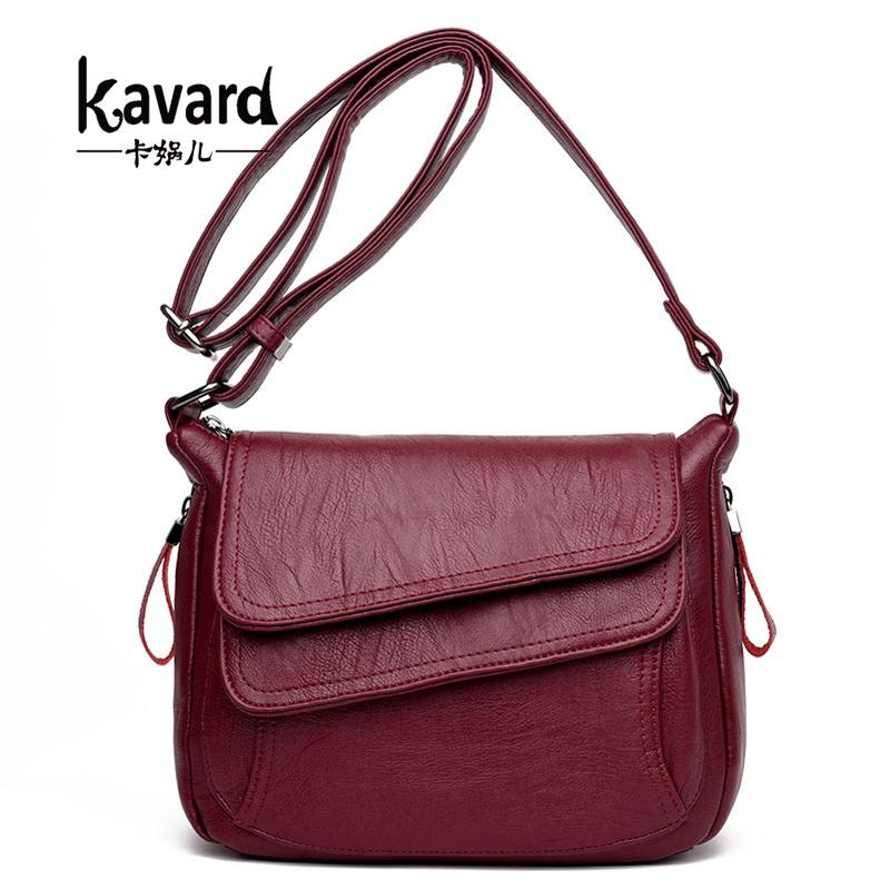 2019 Fashion Kavard Women Leather Handbags New Style Women Bag sac a main femme Luxury Handbags Women Bags Designer Small Handbag 2018 Sling