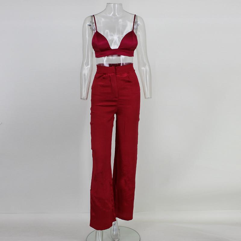 Feditch Sexy Loose Jumpsuits Women 2017 New Strap Deep V Jumpsuit Overalls Women Backless Red Jumpsuit Club Wear Lady Clothing