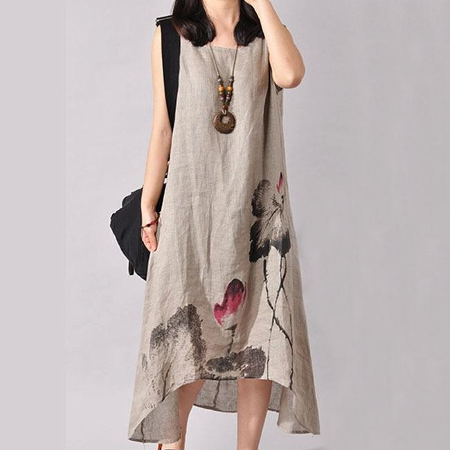 5ecbbe30d68 2019 Linen Vintage Long Maternity Dresses Clothes For Pregnant Women  Clothing Chinese Style Print Plus Size Dress From Cover3085