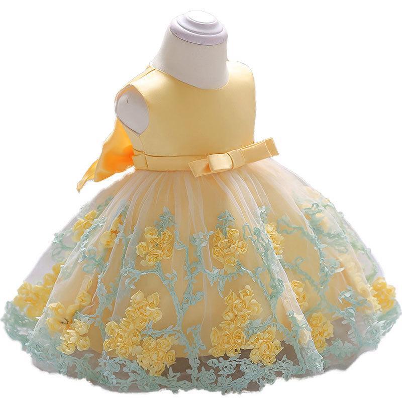 435258450eecb Acheter 2018 Vintage Bébé Fille Robe Robes De Baptême Pour Les Filles 1ère  Année Fête D'anniversaire De Mariage Baptême Bébé Vêtements Pour Bébés Bebes  ...