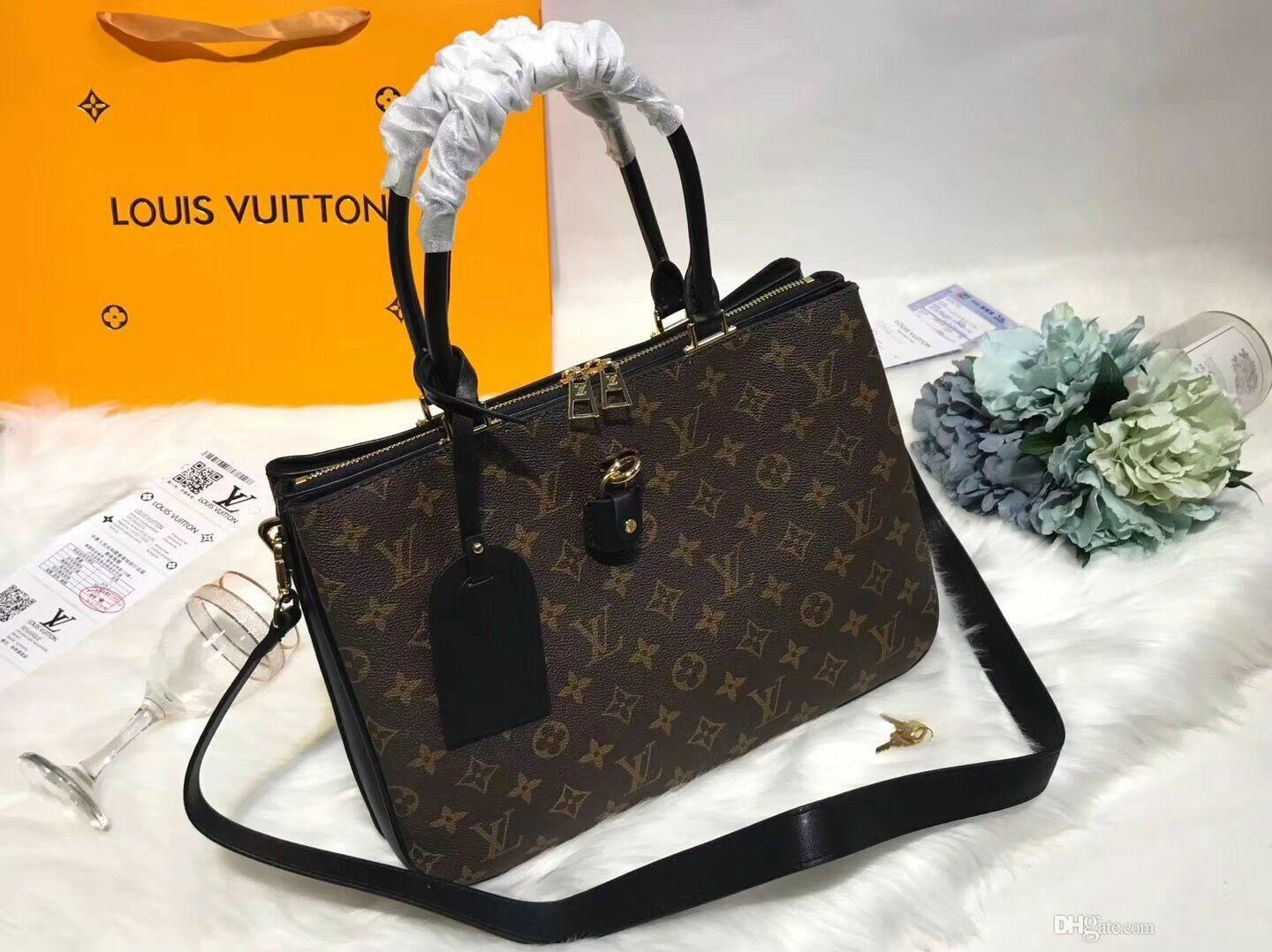28db392d6a2 Newest Women Dress Designer Handbags Geunine Leather Luxury Business  Luggage Bags Sacs Dos Formal Evening Bags Bolso Real Picture Handbags For  Sale Large ...