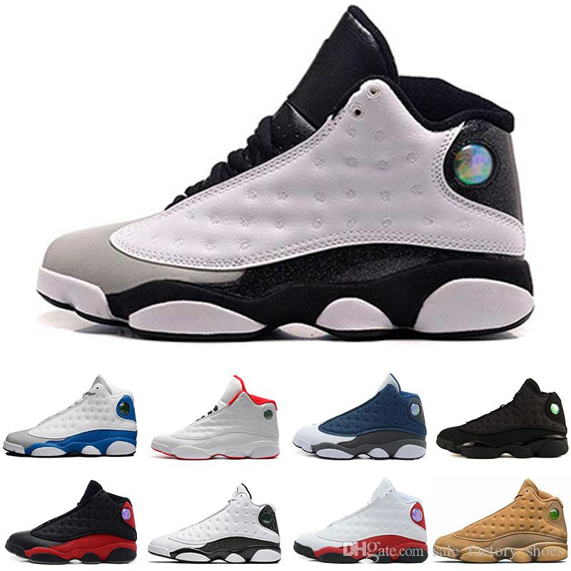 sports shoes 98ef3 1cff5 Hyper Royal 13s Mens Basketball Shoes Olive Sneakers White blue Black Cat  Alititude Green basket ball Trainer 13 Sports footwear