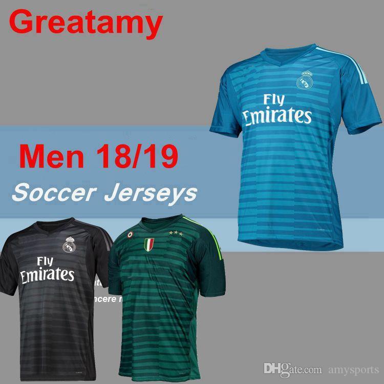the latest 84642 f6892 2018 2019 Men REAL MADRID GK Goalkeeper Football Soccer Jerseys Shirt  Juventus BALE NAVAS MARCELO RONALDO Navas K.CASILLA Rodriguez