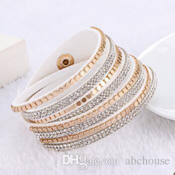 Fashion Crystal Wristbands Crystal Wrap Bracelets Women Bangle ... 9ed792afef44