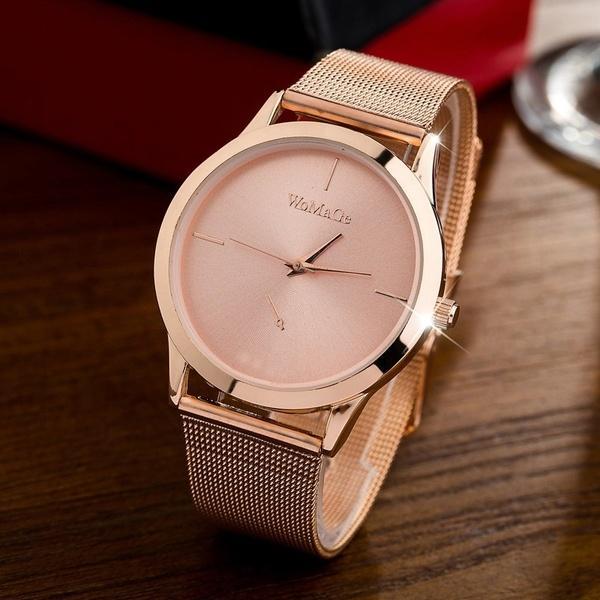 6973dac79 Compre HEXIN Nova Moda Relógios Femininos Mulheres De Luxo Relógio De  Quartzo Subiu De Aço Inoxidável Vestido De Ouro Relógios Montre Femme De  Preserved, ...