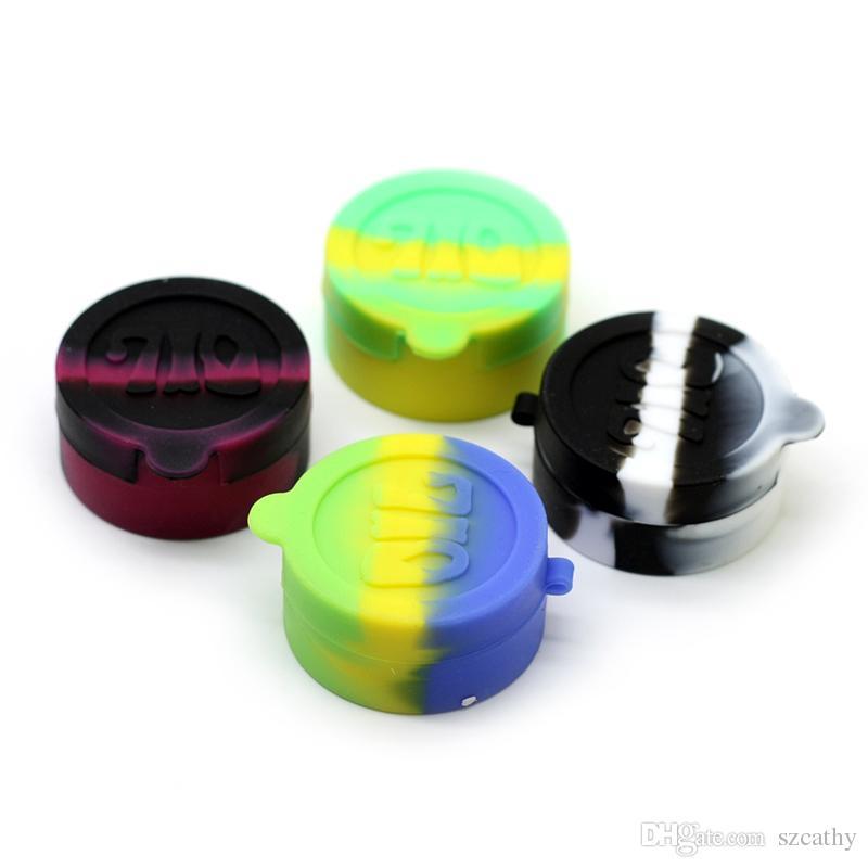 Silikon Dab Konteynerler Çapı = 42mm 10 ml Silikon Kavanozlar Tek parça Silikon Mum Yağı Konteyner Müiltiple Renk Mevcut Yüksek Kalite