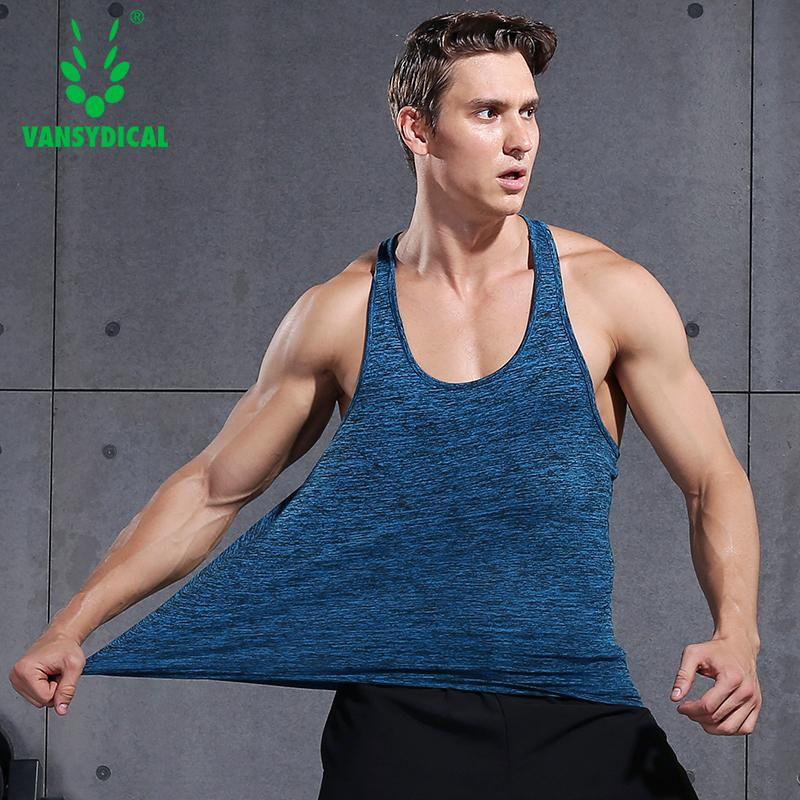 0ba71fb7acb5 2019 Running Men Promotion Men S Sleeveless Top Running Vest Quick Dry Shirt  Gym Clothing Fitness Tank Tops Summer 2016 From Baibuju