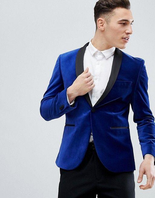 Royal Blue Velvet Mens Suits Slim Fit One Button Plus Size Groomsmen Wedding  Tuxedos For Men Blazers Shawl Lapel Prom Suit Jacket+Pants Wedding Suits  for ... 47e3ac713