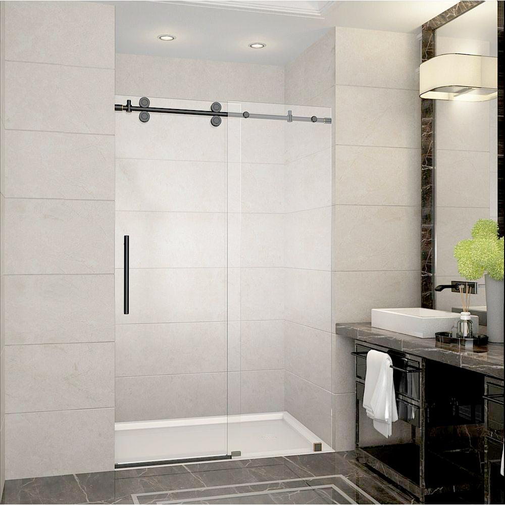 54 In To 60 Frameless Polished Chrome Sliding Shower Door Luxurious Elegant Doors Hardware Roller Glass