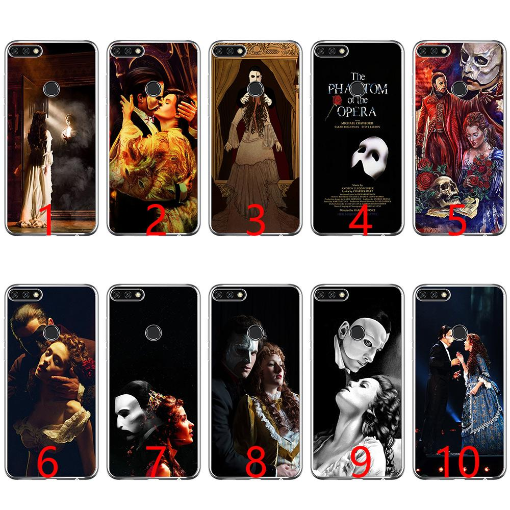 Funda de silicona suave Phantom of the Opera para Huawei P8 P9 Lite 2015 2016 2017 P10 20 Lite P Smart