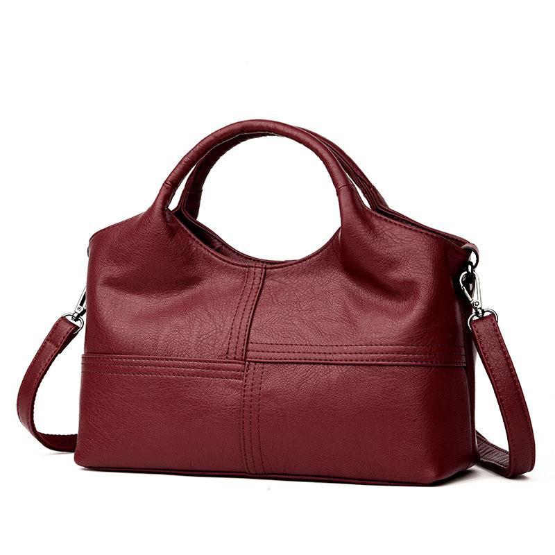 1b41567071a3 2019 Fashion Fashion Patchwork Shoulder Bag Women Luxury Brand Designer  Soft Sheepskin Leather Crossbody Bag Ladies Genuine Leather Handbags Over  The ...