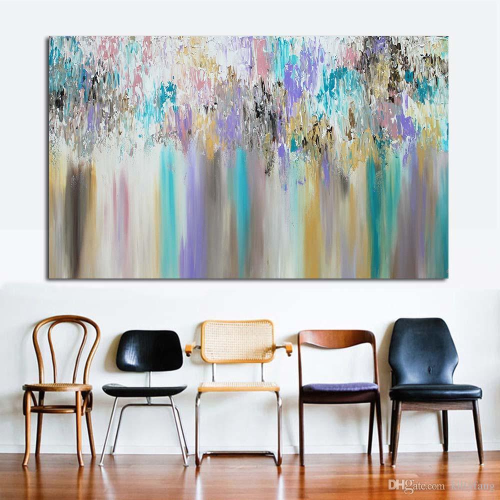 Großhandel 1 Panel Abstrakt Regenbogen Wandbilder Für Wohnzimmer ...