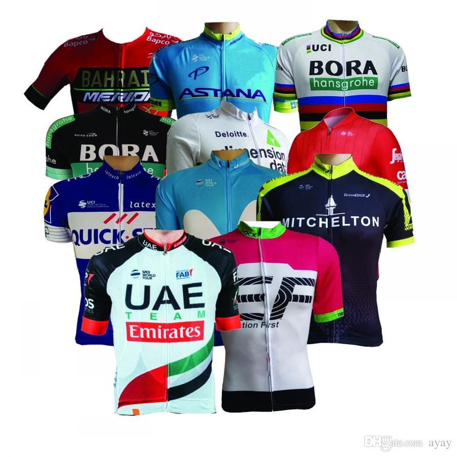 All Teams ! 2018 New UCI Pro Teams Summer Mens Cycling Jerseys Breathable  Bike Clothing MTB Ropa Ciclismo Bicycle Maillot Only Sports Shirts Mens  Tops From ... 68de5a9f8