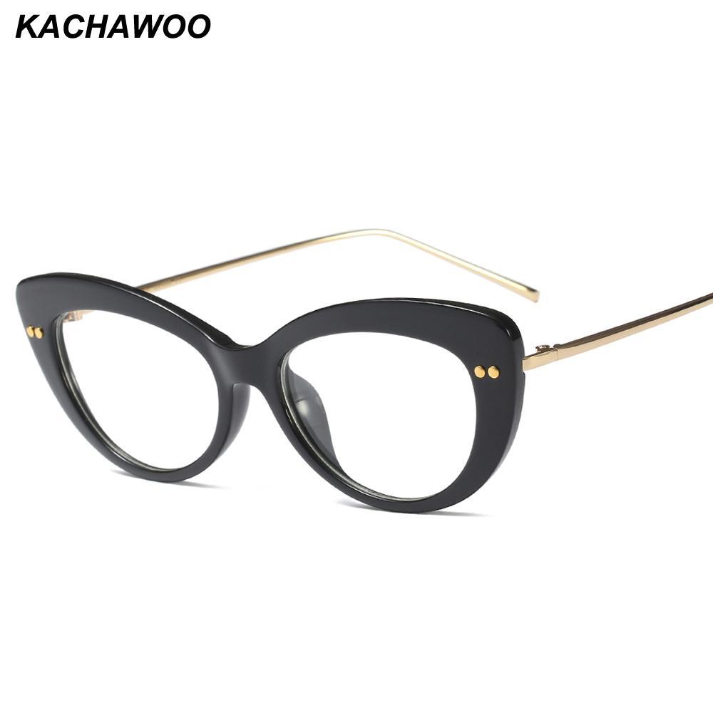 0732d65df5 2019 Kachawoo Ladies Cat Eye Eyewear Accessories Half Metal Transparent Eye  Glasses Frames For Women Birthday Gift From Xiamenwatch