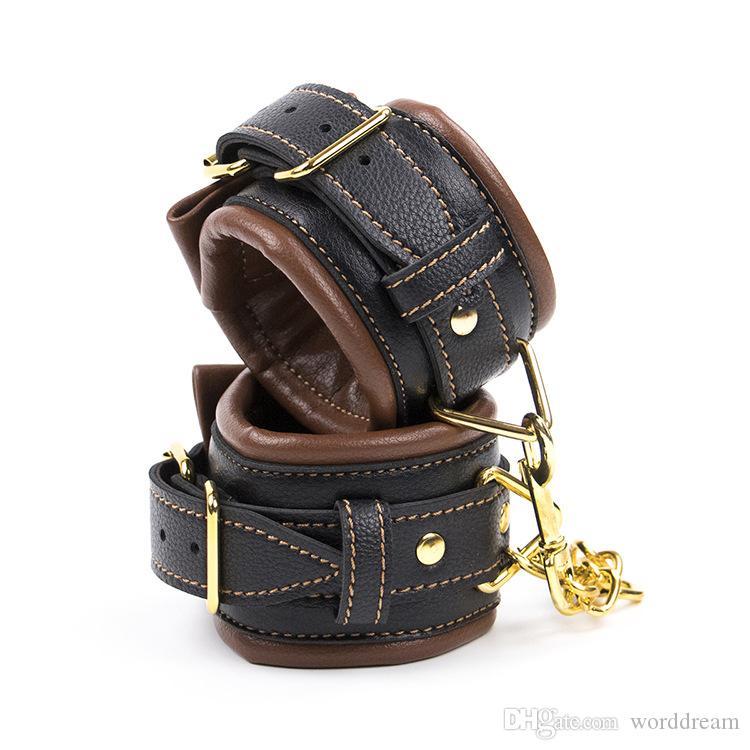 Hand Cuffs Bdsm Leather Wrist Ankle Cuffs Bondage Slave Restraints Belt In Adult Games For Couples Fetish Sex Toys For Women Men - HK19