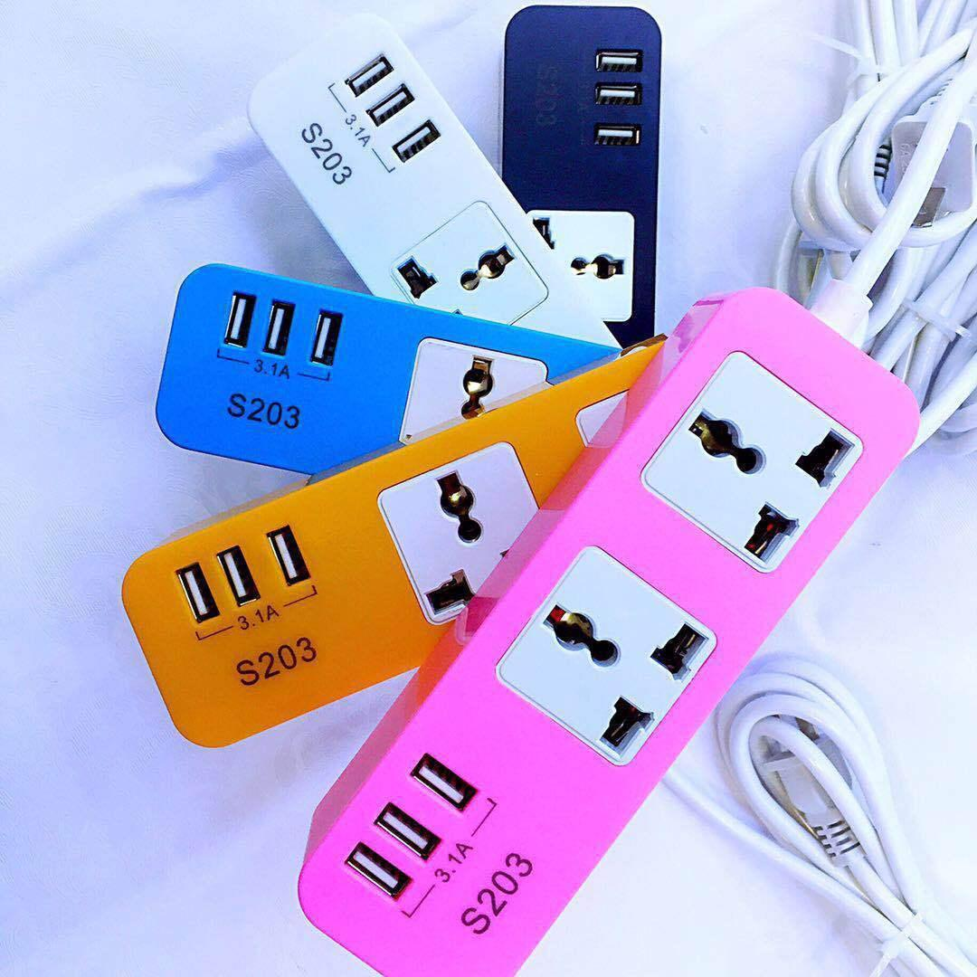 3 Usb Plug Ac Wall Power Socket 5v 4a Output 110v 250v Input Electric Wiring Charging Cable For Lighting Mico Type C Charger Online With