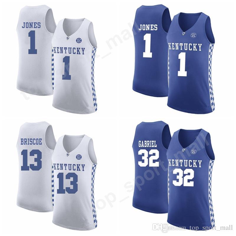 quality design ebbd6 d700d College Kentucky Wildcats Basketball Jerseys Custom 22 Shai  Gilgeous-Alexander 13 Isaiah Briscoe 13 Isaiah Briscoe 1 Sacha Killeya-Jones