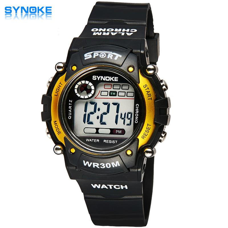 Synoke Branded Hot Sale New Children Watches Cool Kids Watches Black Square Children Digital Kid Watch Boys Watches Watches