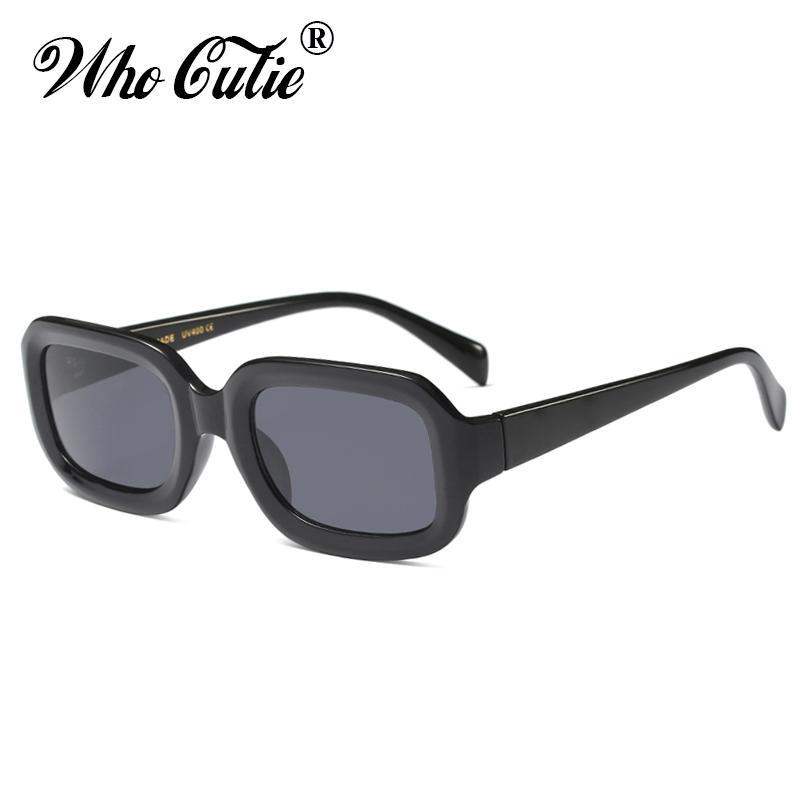 19336e2c3975 WHO CUTIE 2018 Oversized Rectangular Sunglasses Women Brand Designer Retro  Vintage Thick Frame 90S Chic Sun Glasses Shades OM571 Sunglasses For Women  Cat ...