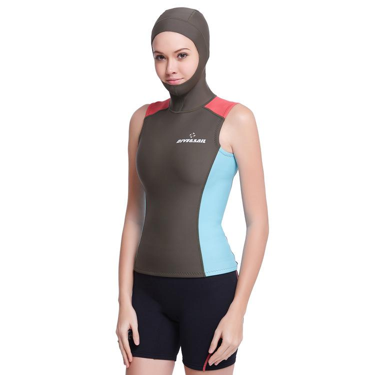 e35b84ece4 2019 Swim Wetsuits Dive Amp Sail Wetsuits Hooded Vest 1.5MM Womens Diving  Hood Vest Spearfish Neoprene Wetsuit From Sports1234