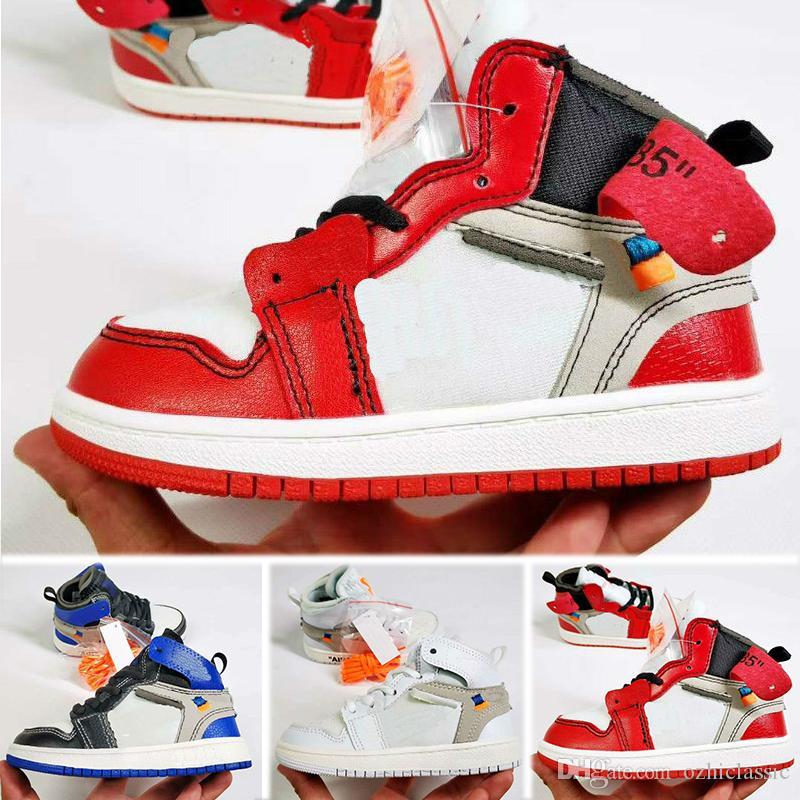 best sneakers 2b5fa 71629 ... rot schwarz kaufen 6e09e ce39b  closeout großhandel nike air jordan 1  retro jungen mädchen 1 s kinder aus basketball schuhe kinder