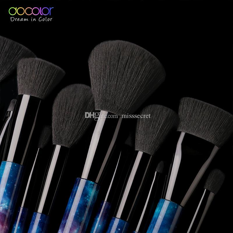 Docolor Galaxy Makeup Brushes Sets Professional Make up brushes Sky Night Pattern Handle Synthetic Hair Makeup Brush Kit with Gift Box