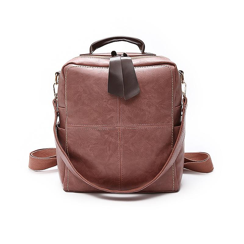 Dropshipping Women Backpack Brand Multi-use Women Bag High Quality PU Leather Flap Daily Bag For Teenage Girls Bookbag