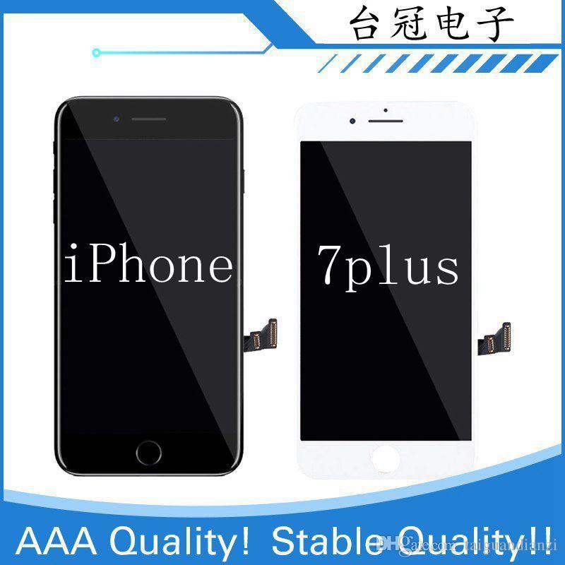 IPhone 7 için 7 ARTı LCD Ile 3D Kuvvet Dokunmatik Ekran Meclisi Yedek Ekran Yok Ölü Piksel Garantisi iphone 7 artı Ücretsiz Kargo