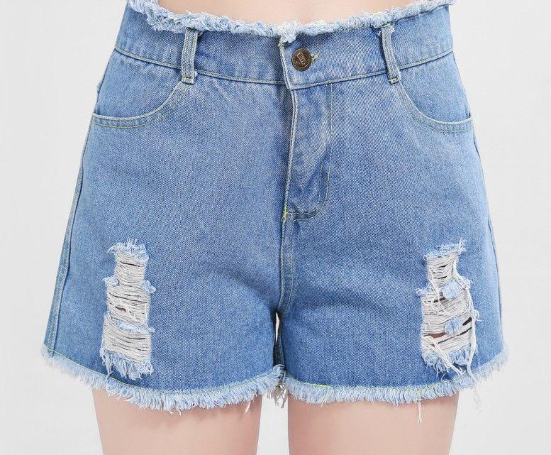 6b029d434941f Mordern Shorts 100kg Fat Women Denim Skinny Pants Hole Tassel Ripped Slim  Shorts Trousers Jeans S-5XL Shorts Women Jeans Women Short Online with   10.3 Piece ...