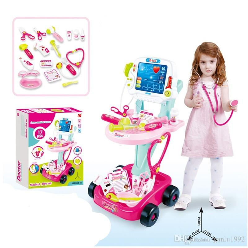17Pcs Children Home Toys Simulation Happy Little Doctor Device Combination  Game Set Pretend Play And Dress Up Games 51lq Ww