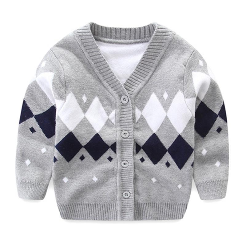 2851ff3ecaf9 Newborn Baby Sweater For Boy Cotton Soft Baby Cardigan Long Sleeve V ...