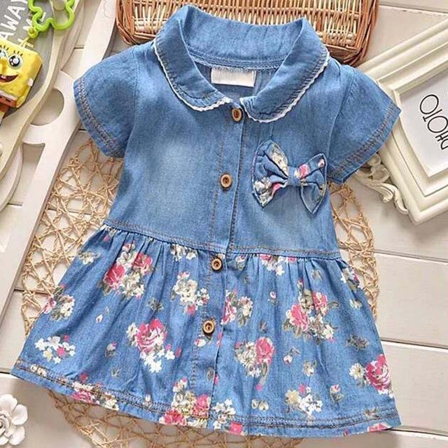 e8c1dfe7b 2019 Startist Baby Girl Dress Spring Baby Denim Dress For Infants ...