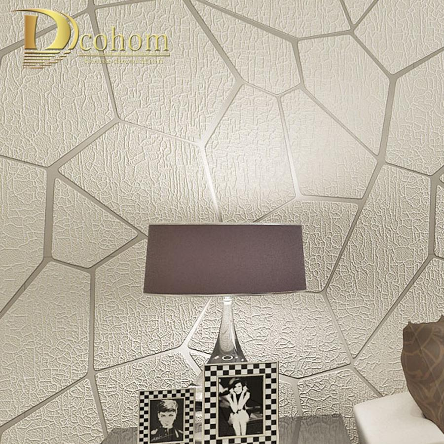 Thick Flocked Modern Geometry Striped Wallpaper For Walls Living