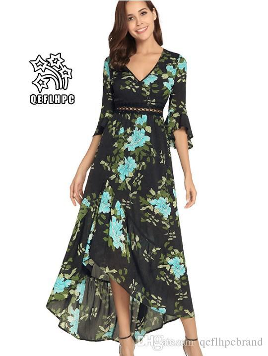 8838944e978 Women'S Clothes Dress Summer Sexy Beach Chiffon Dress Thin Polyester  Material Casual Dresses Chambray Longuette V Neck A1579 Long Dress For Women  Womens ...