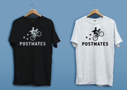 New POSTMATES Amazon Flex Logo White Black Men s T-shirt Shirt XS - 2XL  Funny free shipping Unisex Casual tee gift