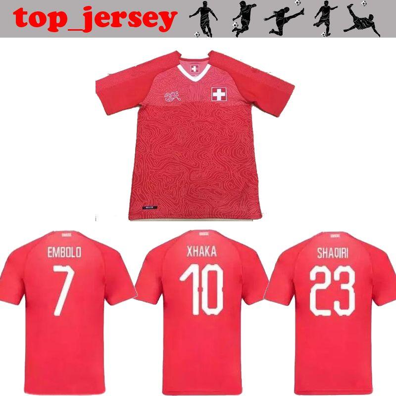 a3aedafdb ... away footba  new 2018 world cup xhaka soccer jersey thai quality  switzerland home red embolo rodriguez shaqiri za