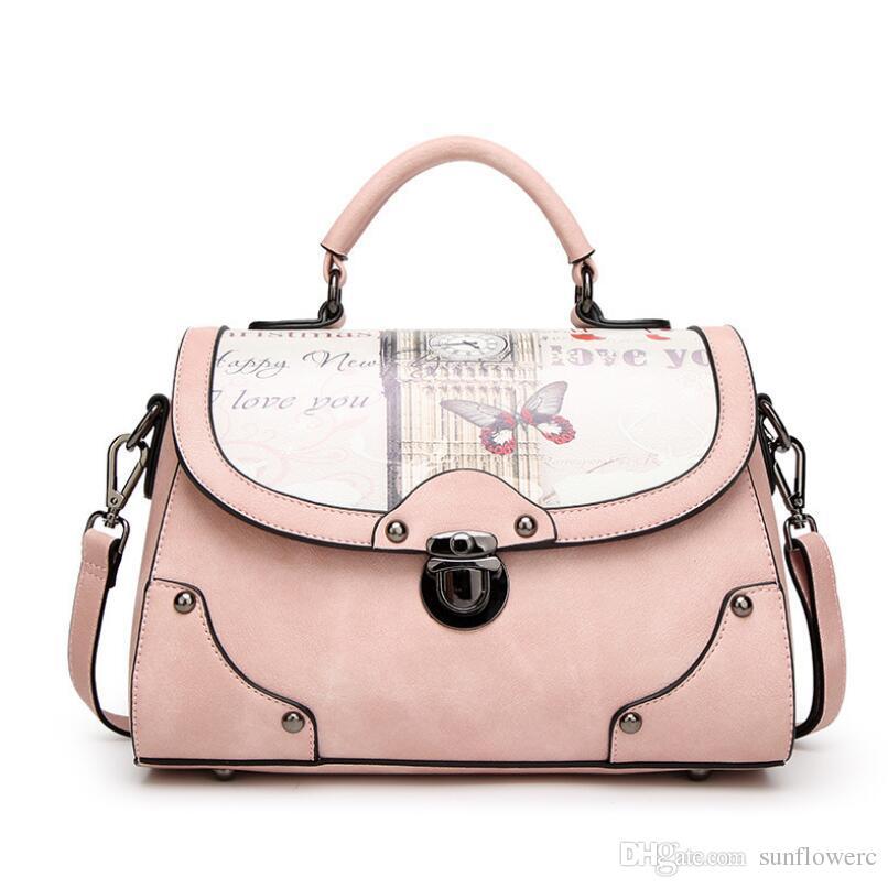 193b8c05f2 Hot Fashion Nice Pattern Women Fashion PU Leather Handbag Casual Famous Design  Women Shoulder Bag High Quality Girl Message Bags Famous Design Shoulder Bag  ...