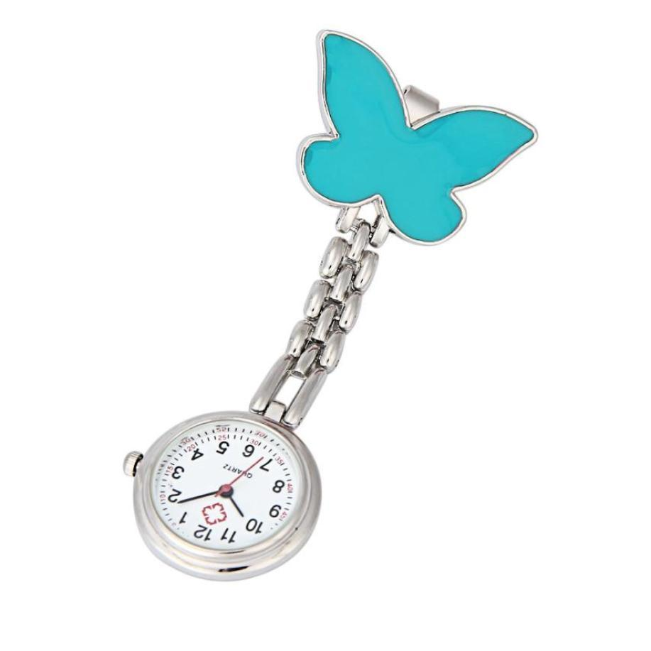 Clip-on Fob Brooch Pendant Hanging Watch Women Buerfly Design Unisex Watches Fashion Doctor Nurse Pocket Watch Clock hot Sale