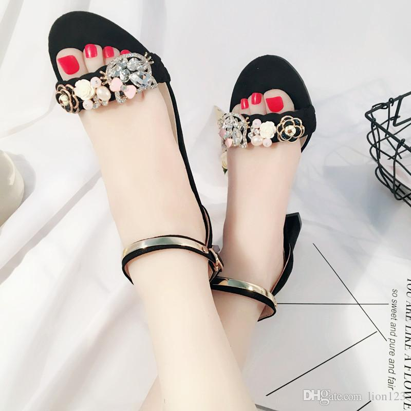 7ab14432c8723f Pearl Lace Flower For Beach Vacation Sandals Fashion Hot Seller ...