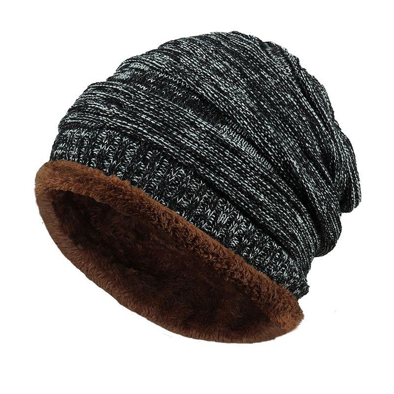 57d2eadb74c 2018 Men Beanies Knit Hat Winter Cap For Man Knitted Cap Boys Thicken  Hedging Cap Balaclava Skullies Fashion Warm Knit Beanie Skull Caps Stocking  Cap From ...