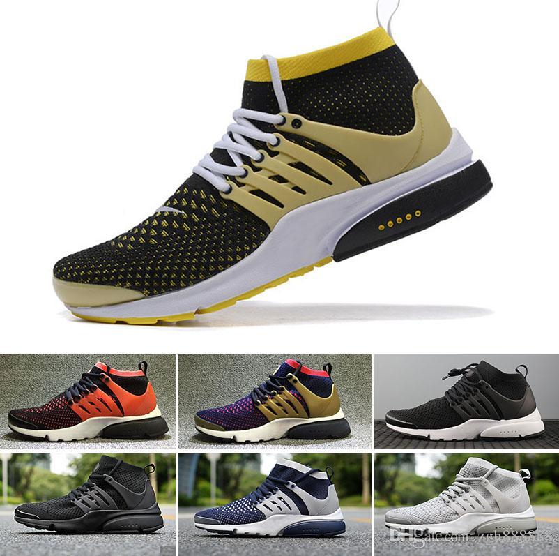 f9b8b228332 Acheter NIKE Air Presto Flyknit Ultra N13 2 2018 Sneakers Livraison  Gratuite Nouveau Haute Qualité Noir Blanc Hommes Femmes Canard Haute  Chaussures De ...