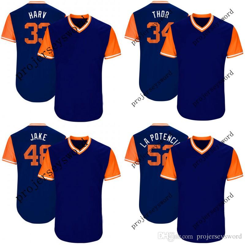 5e66a3b97 New York Jersey 40 AJ Ramos Junior 48 Jacob DeGrom Jake 52 Yoenis Cespedes  La Potencia 2017 Players  Weekend Baseball Jerseys New York Jersey Jacob  DeGrom ...