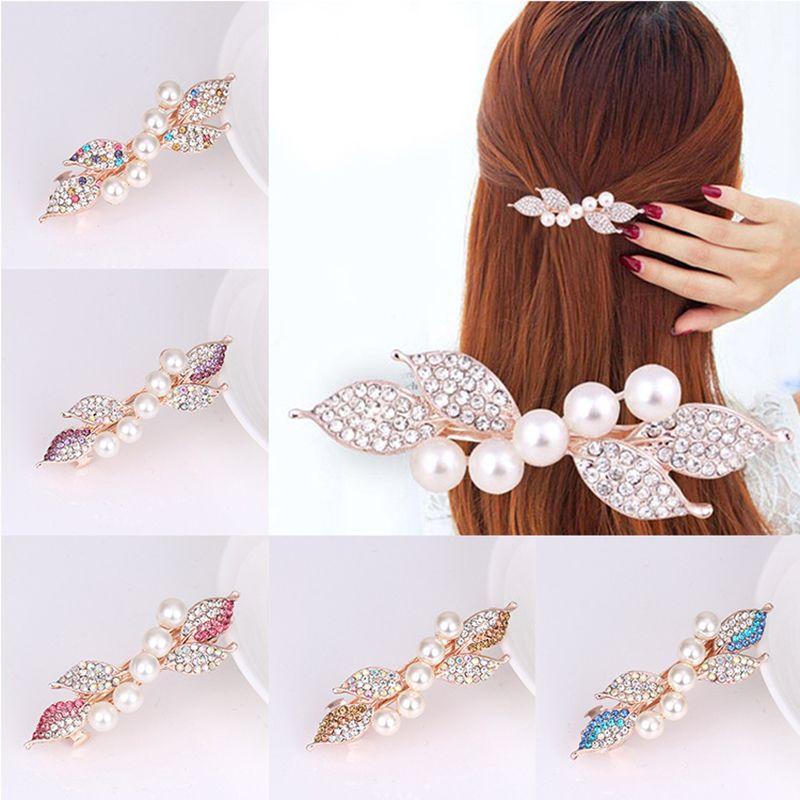 Crystal Rhinestones Side Bangs Clip Korean Spring Clip Pearl Girls Hair  Clips Hair Pins Women Accessories Barrette Hair Accessories For Weddings  Wedding ... ee02a7590e9b