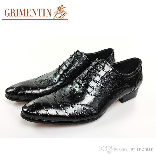 60fc910cf GRIMENTIN Hot Sale Men Oxfords Genuine Leather Black Brown Formal Mens  Dress Shoes Italian Fashion Designer Business Wedding Men Shoes Italian  Shoes Summer ...
